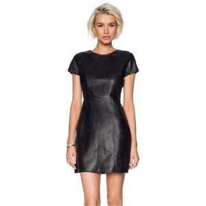 MINKPINK black climbing floral faux leather dress